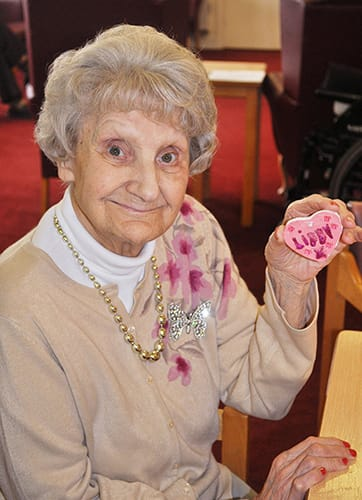 Arts and craft at the Devonshire Dementia Care home