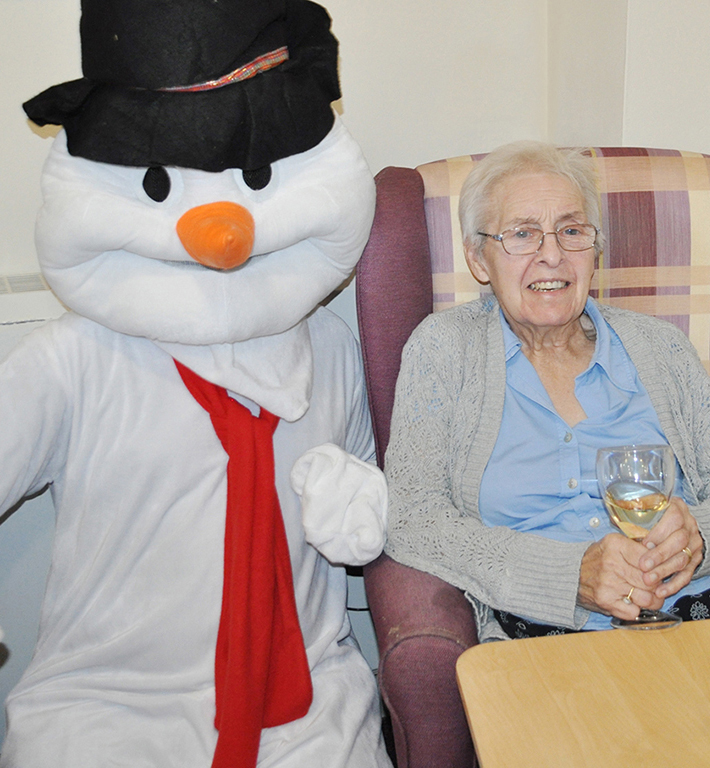 Christmas party at the Devonshire Dementia Care Home