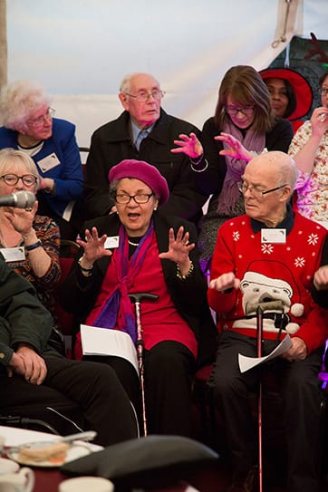 Dementia singing group, Singing for the brain at our Christmas Party