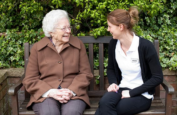 Staff engaging residents living with dementia
