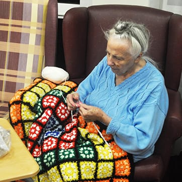 Encouraging  hobbies at the Devonshire Dementia Care Home