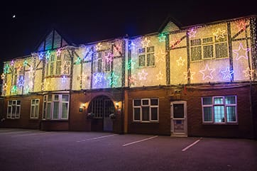 Devonshire Dementia Care Home Christmas lights