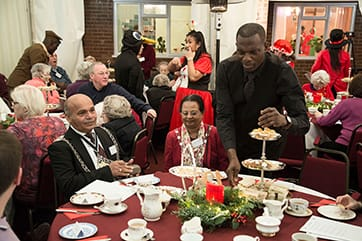 The mayor and mayoress at Devonshire Christmas Party