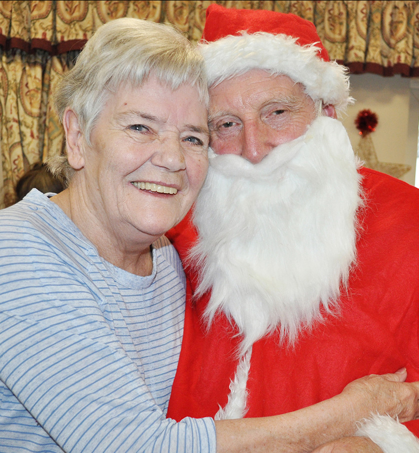 A Devonshire Dementia Care Home resident with Father Christmas