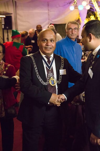 The Mayor at Devonshire Dementia Care Christmas Party