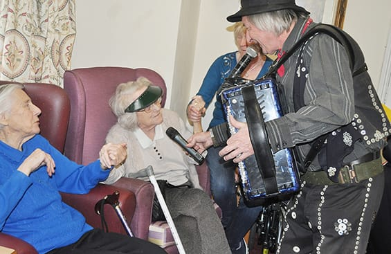 Live music at the Devonshire Dementia Care Home