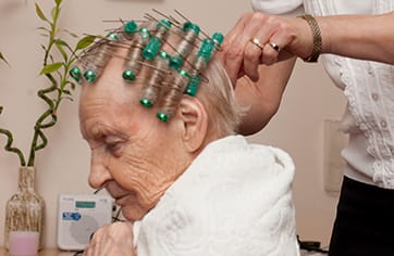 Hairdresser visits for our Dementia Care residents
